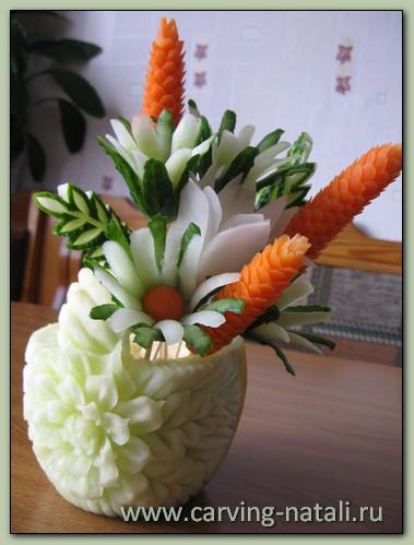 Цветы из кабачков своими руками